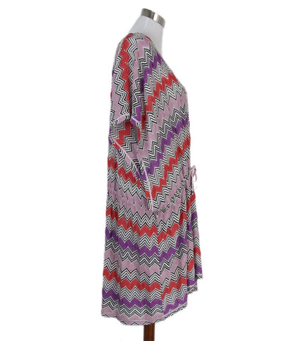 Missoni purple orange cover up beachwear dress 1