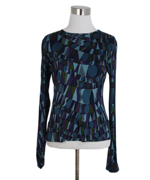 Missoni purple teal jersey top 1