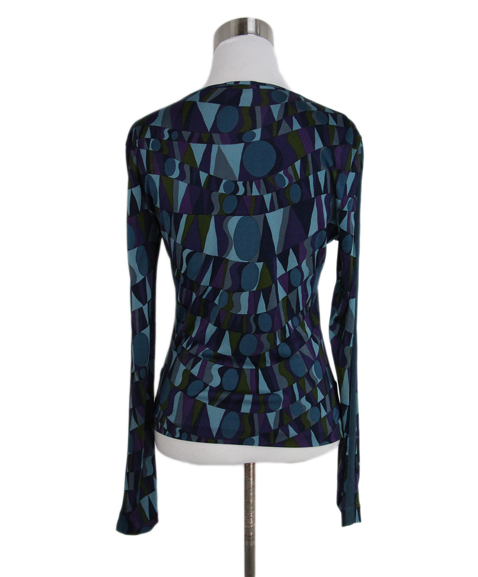 Missoni purple teal jersey top 3