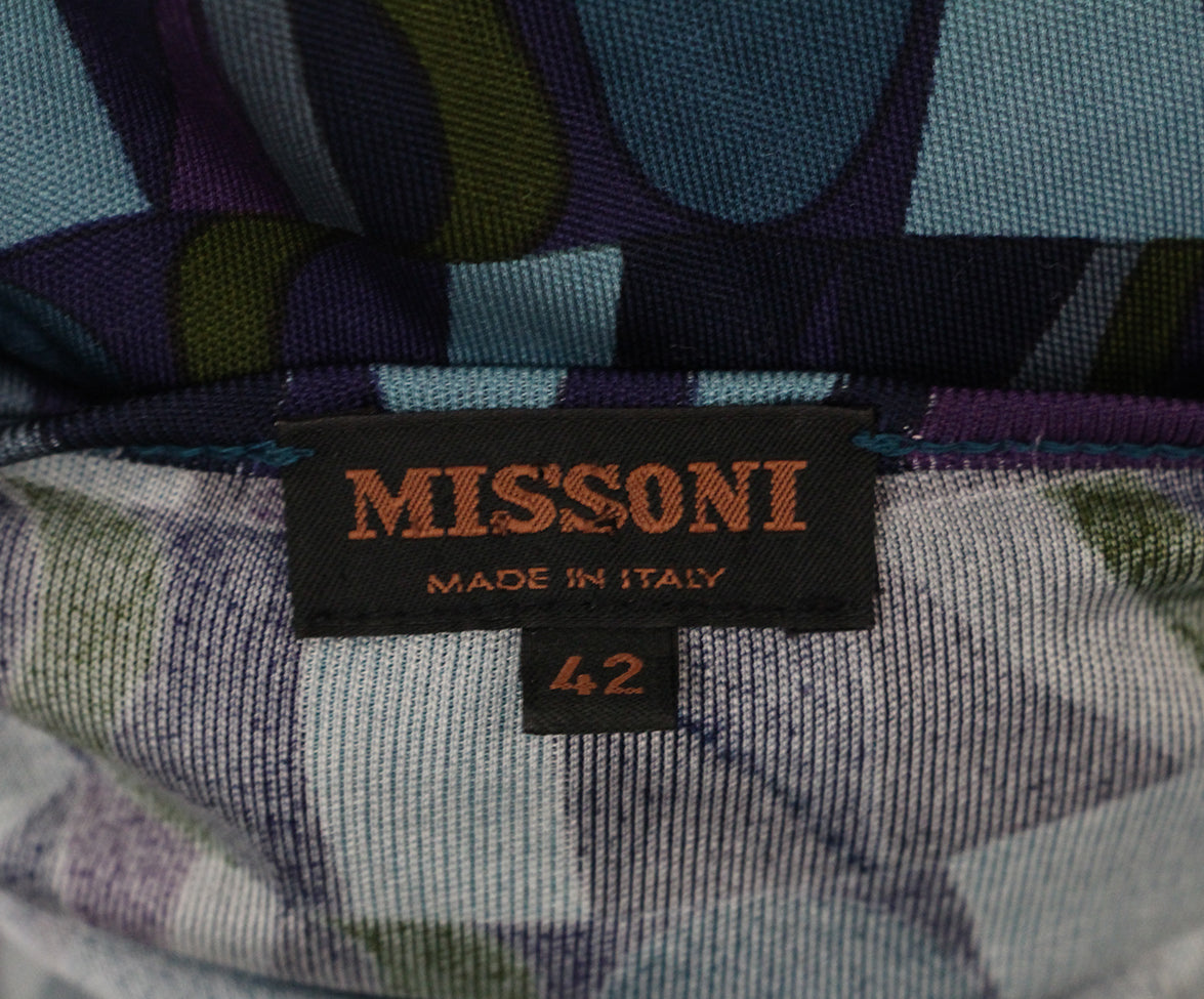 Missoni purple teal jersey top 4