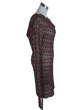 Missoni Red Burgundy Gold Viscose Dress 2