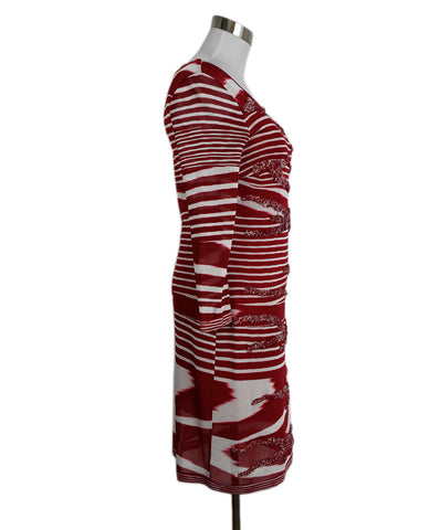Missoni Red White Stripes Viscose 1