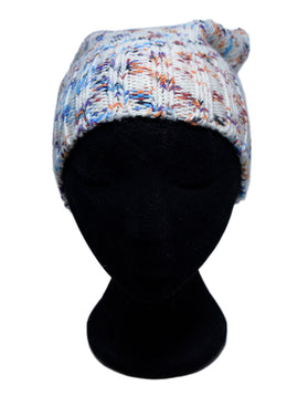 Missoni White Purple Blue Wool Hat 1