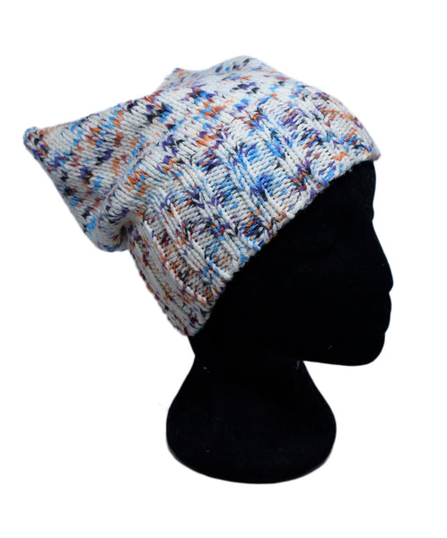 Missoni White Purple Blue Wool Hat 2