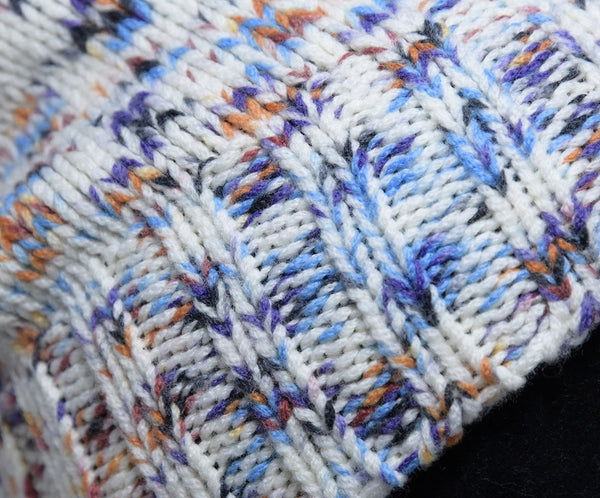 Missoni White Purple Blue Wool Hat 6
