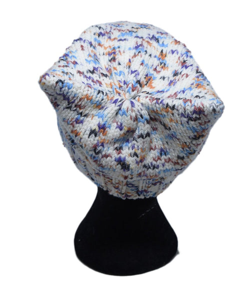 Missoni White Purple Blue Wool Hat 3