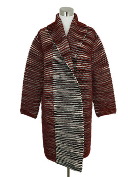 Missoni Wine Black Cream Nylon Knit Sweater Coat 1