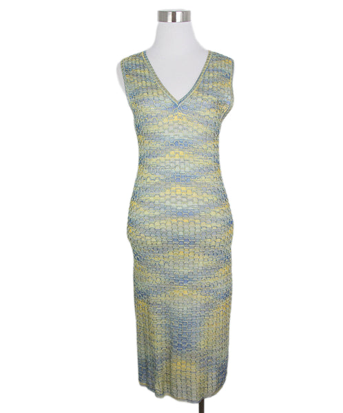 Missoni yellow blue dress 1