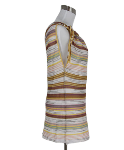 Missoni Yellow Pink Grey Viscose Top 1