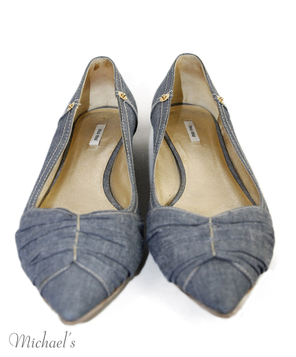 Miu Miu  Blue Denim  Shoes Sz 36.5
