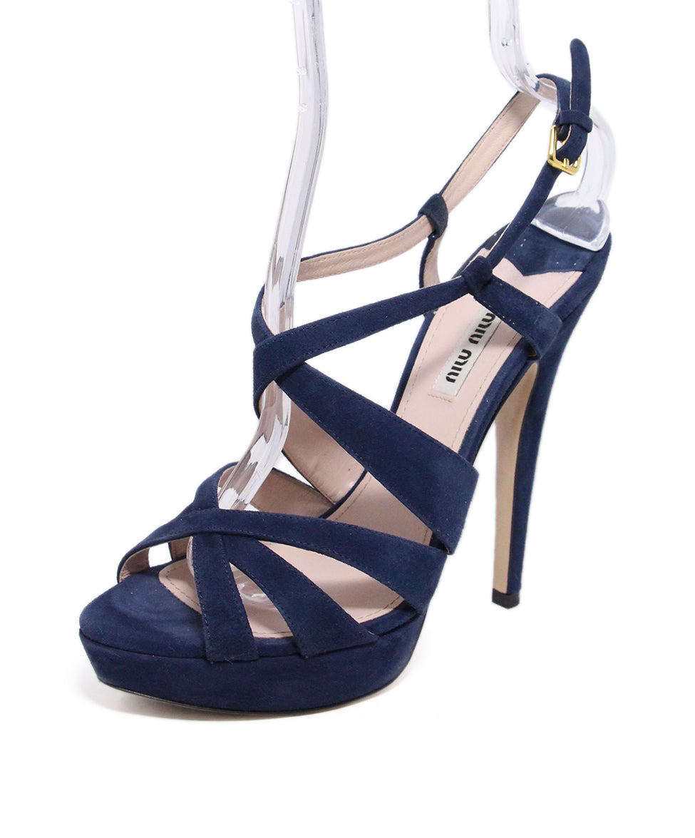addba1beeee118 Miu Miu Heels US 9 Blue Suede Shoes - Michael s Consignment NYC
