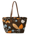 Miu Miu Brown Orange Print Canvas Tote 3