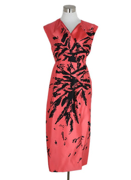 Miu Miu Salmon Motif Silk Dress 1