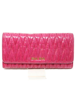 Miu Miu Fuchsia Leather Wallet 1