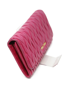 Miu Miu Fuchsia Leather Wallet 2