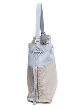Miu Miu Blue Silver Leather Handbag 1