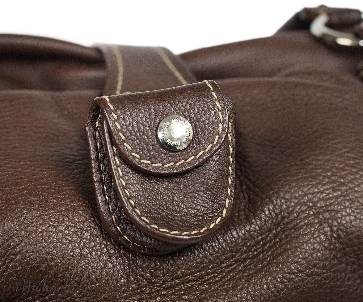 Miu Miu Brown Leather Tan Stitching Bag - Michael's Consignment NYC  - 10