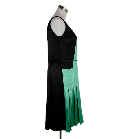 Miu Miu Black Green White Viscose Dress 1