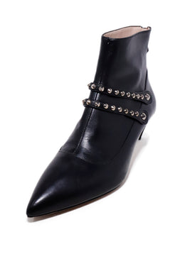 Miu Miu Black Leather Studs Booties 1