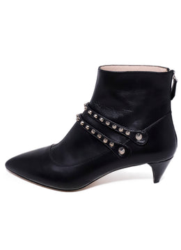 Miu Miu Black Leather Studs Booties 2