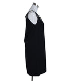 Miu Miu Black Polyester Leather Trim Dress 2