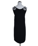 Miu Miu Black Polyester Leather Trim Dress 3