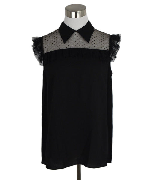 Miu Miu Black Viscose Elastane Lace Top 1