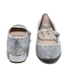 Miu Miu Metallic Silver Glitter Shoes 3
