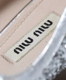 Miu Miu Metallic Silver Glitter Shoes 7