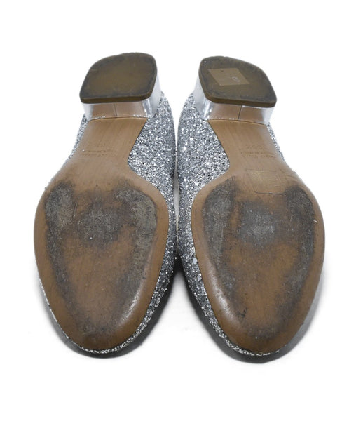 Miu Miu Metallic Silver Glitter Shoes 5