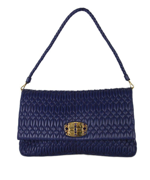 Miu Miu purple Leather rhinestone Bag 1
