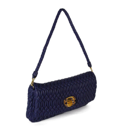 Miu Miu purple quilted leather shoulder bag 1