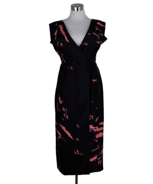 Miu Miu Black Salmon Silk Print Dress 1