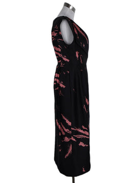 Miu Miu Black Salmon Silk Print Dress 2