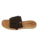 Miu Miu Brown Suede Fringe Sandals 2