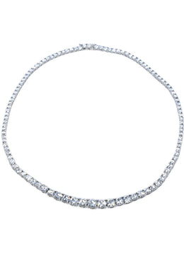 Fine Jewelry Moissanite Sterling Silver Tennis Necklace 2