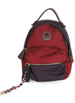 Moncler Burgundy and Plum Nylon Backpack 1