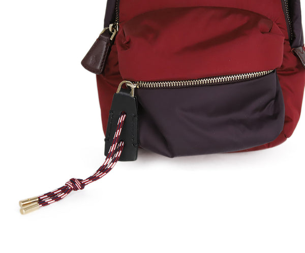 Moncler Burgundy and Plum Nylon Backpack 9