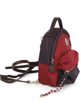 Moncler Burgundy and Plum Nylon Backpack 2