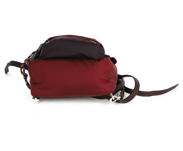 Moncler Burgundy and Plum Nylon Backpack 4