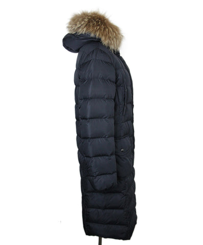Moncler Navy Down Fur Hood Coat 1