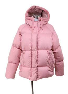 Coat Short Moncler Pink Down Lining Outerwear