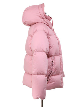 Coat Short Moncler Pink Down Lining Outerwear 1