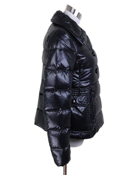 Jacket Moncler Black Nylon Down Lining Outerwear 1