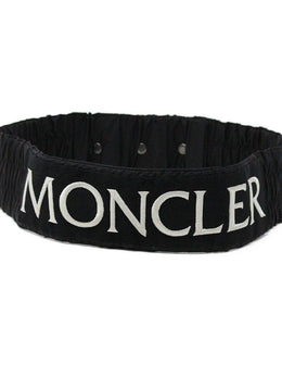 Moncler Black Nylon White Trim Belt