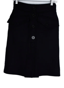 Moncler Black Wool Nylon Skirt 1