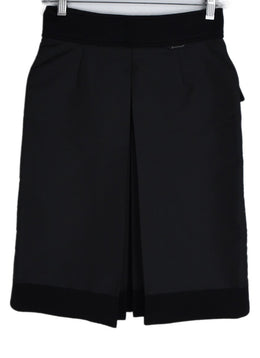 Moncler Black Wool Nylon Skirt 2