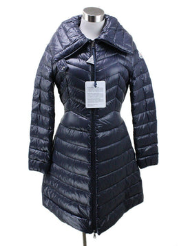 Moncler Navy Puffy Down Coat