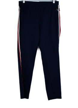 Moncler Blue Navy Red White Polyamide Pants 1