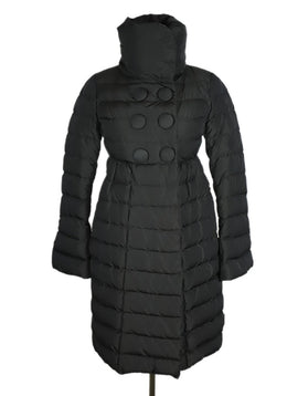 Moncler Grey Gunmetal Nylon Button Detail Coat 1